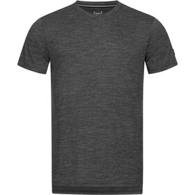 super.natural Graphic Tee Men, caviar melange/vapor grey mander
